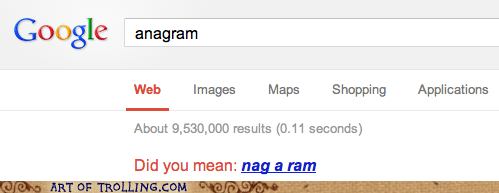 well play I see what you did there anagram google - 6936463360