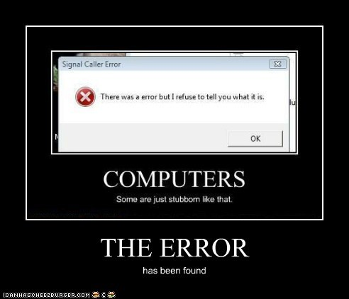 THE ERROR has been found