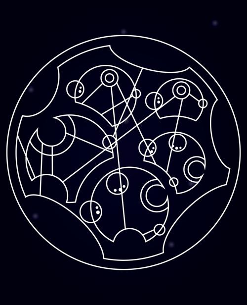 scifi Fan Art circular gallifreyan doctor who - 6936785152