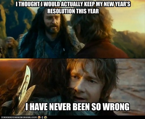 new years resolutions,new years,Sudden Change of Heart Thorin