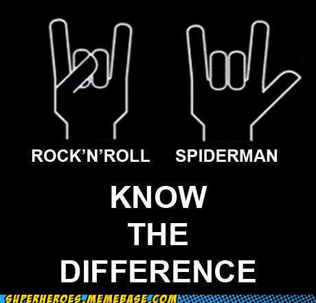 Spider-Man,rock n roll,hand gestures