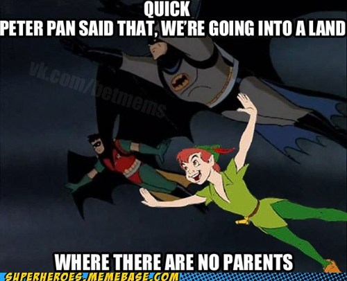 peter pan,batman,happy,Neverland