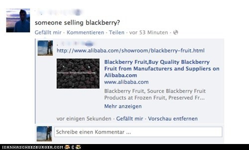 Someone selling blackberry?