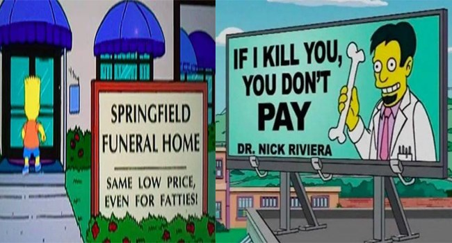 simpson memes signs funny memes simpsons funny springfield - 6937605