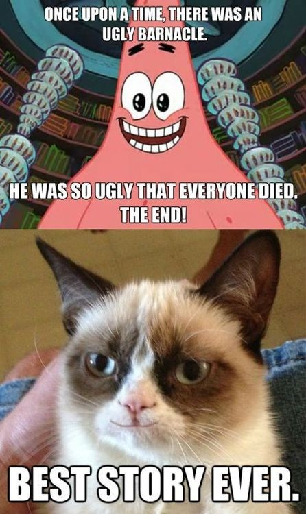 SpongeBob SquarePants patrick starfish Grumpy Cat - 6937741568