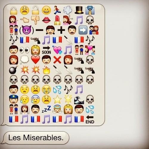 Movie,text,emoticons,sms,Les Misérables