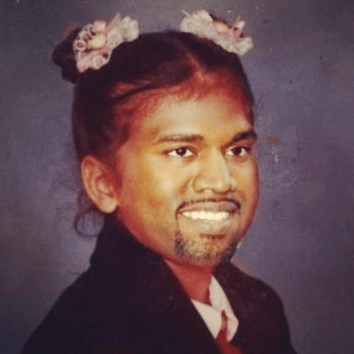 Arist Representation of Kim Kardashian and Kanye West's Baby