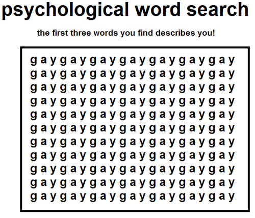 word search,gay,psychological