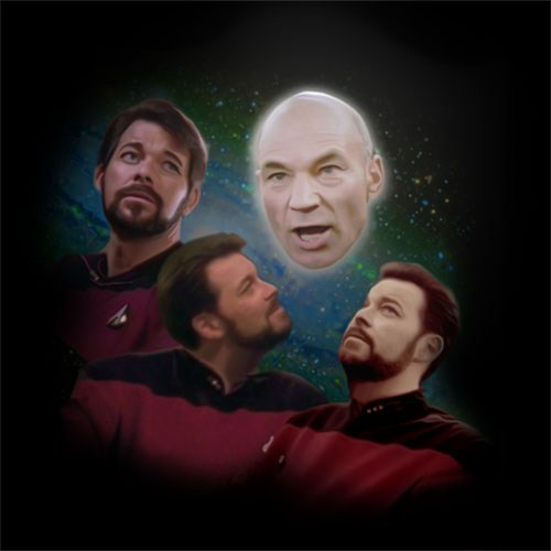 shoop Jonathan Frakes TV Star Trek funny patrick stewart - 6937841152