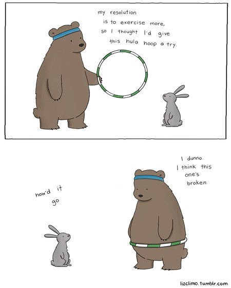 cute bear comic hula hoop animals