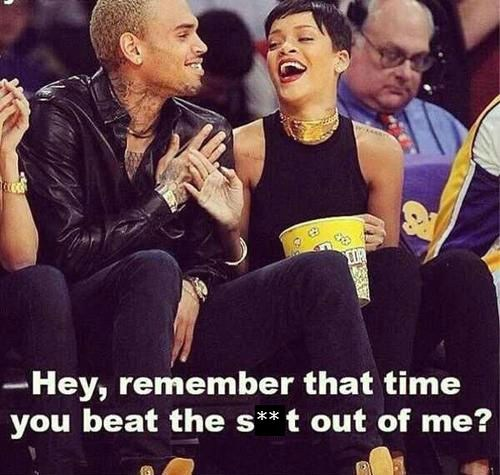 rhianna basketball game chris brown