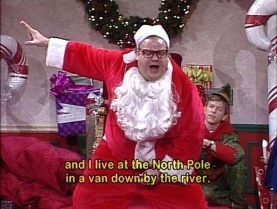christmas,chris farley,SNL,santa,funny,holidays