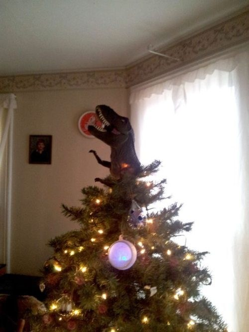 christmas,decorations,dinosaur,tree,funny,holidays