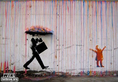 Street Art hacked irl pretty colors rain - 6938144768