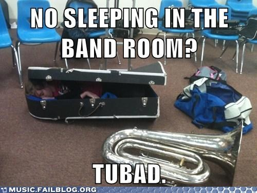 tuba,sleeping,band,Music FAILS,g rated