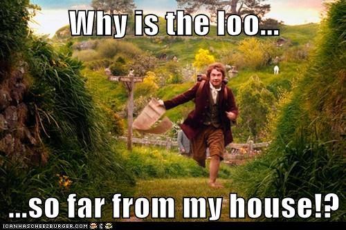 loo Martin Freeman Bilbo Baggins toilet paper The Hobbit running far