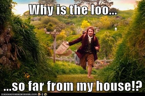 loo Martin Freeman Bilbo Baggins toilet paper The Hobbit running far - 6938159360