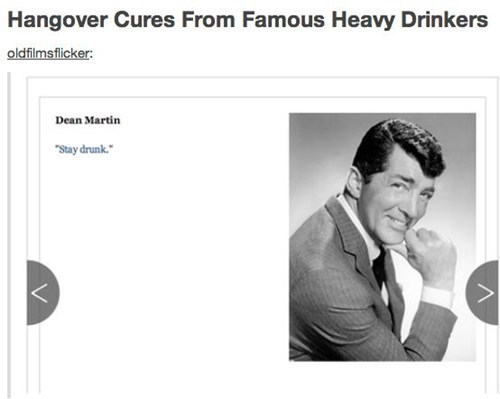 hangovers alcohol dean martin