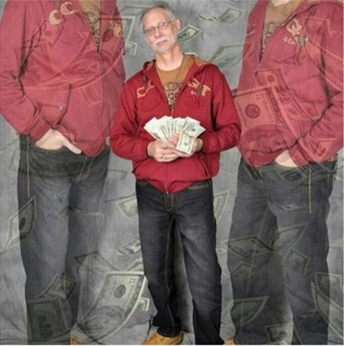 gangsta cash money Grandpa - 6938197504
