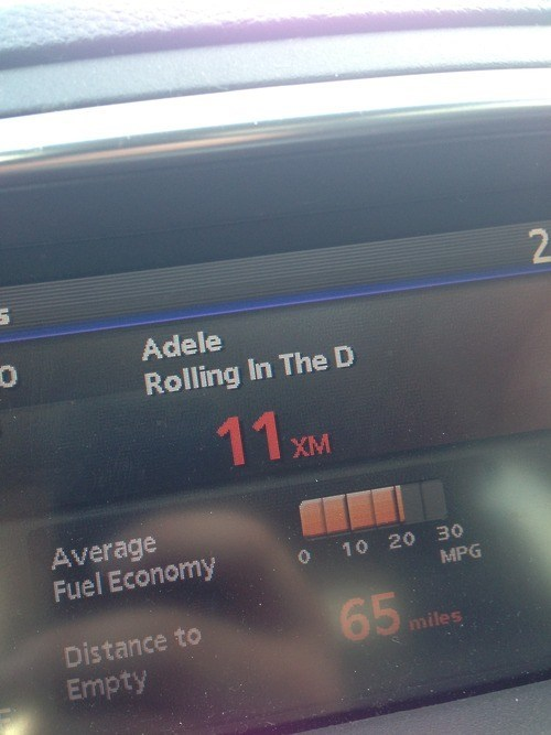 adele,car,THE D,rolling in the deep