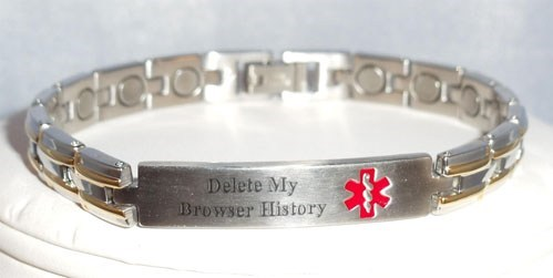 medical bracelet,browser,internet history