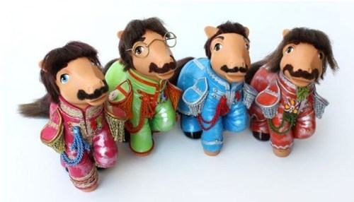 beatles my little pony custom figures - 6938415616