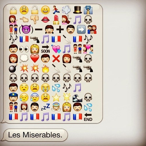 iPhones movies emoticons Les Misérables g rated AutocoWrecks