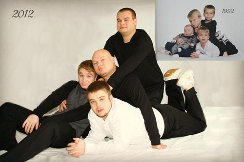 recreation photo grown up brothers - 6938452224