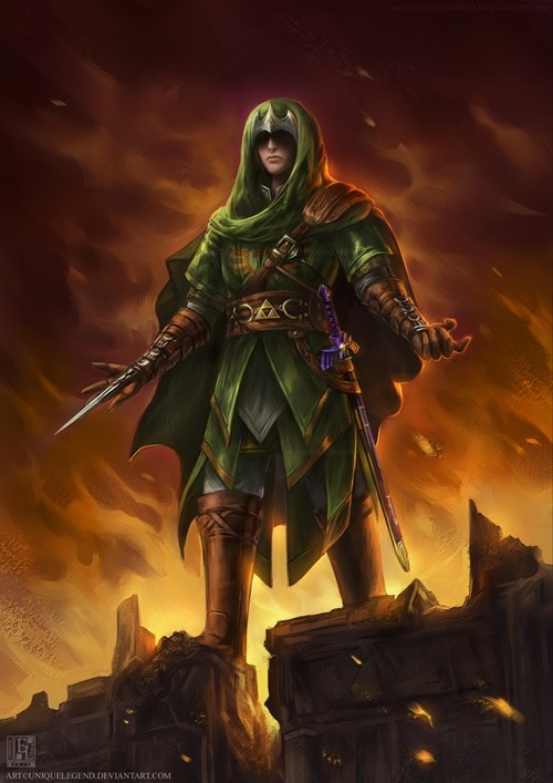 crossover link art assassins creed zelda - 6938472704