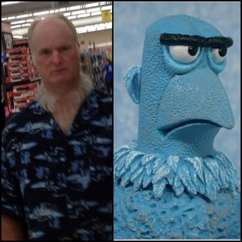 the muppets Sam the Eagle neck beards poorly dressed g rated