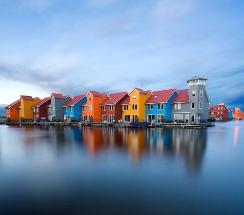 design pretty colors waterfront home - 6938661376
