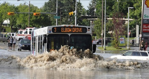 Like a Boss,BAMF,bus,rain,flood