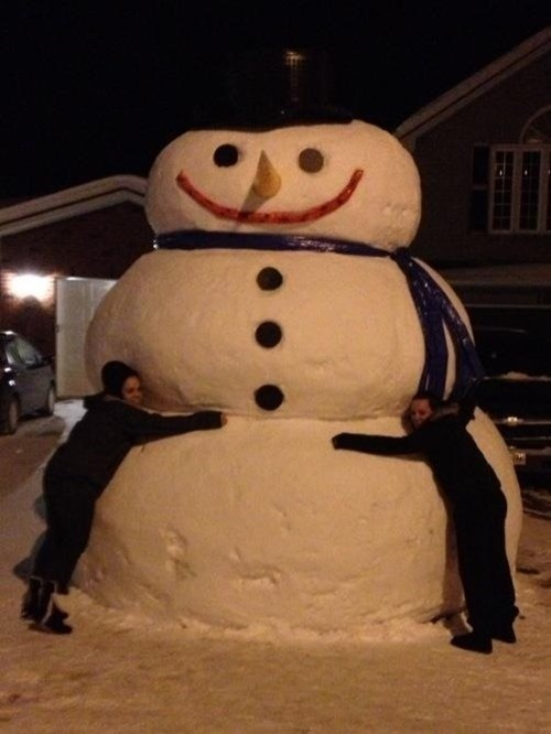 snow,winter,huge,snowman