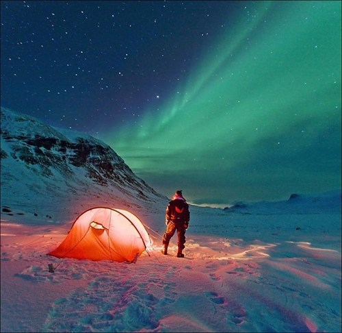 Iceland aurora borealis northern lights winter