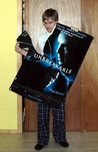 unbreakable poster irony