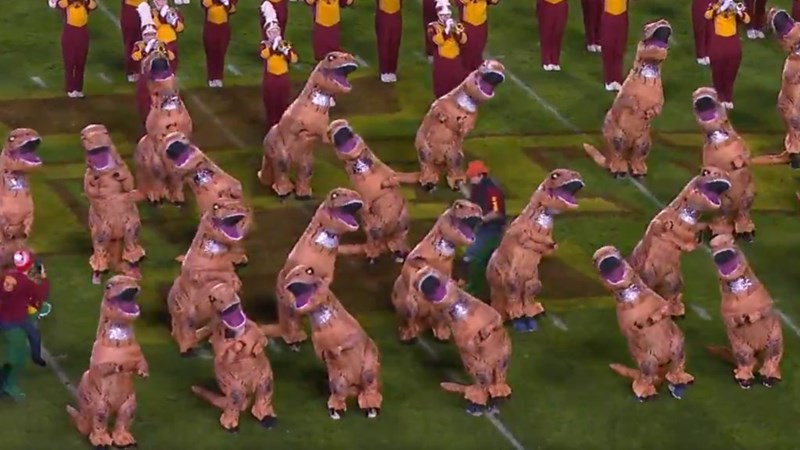 dancing football dinosaurs t rex - 6938885