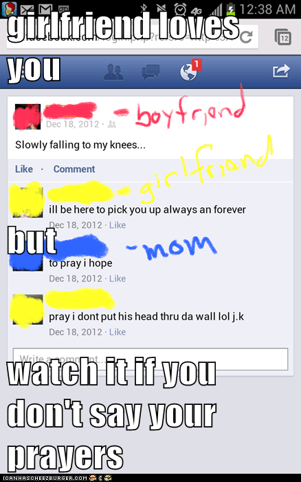 girlfriend loves you but watch it if you don't say your prayers