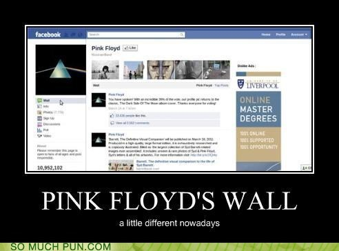 pink floyd facebook double meaning wall