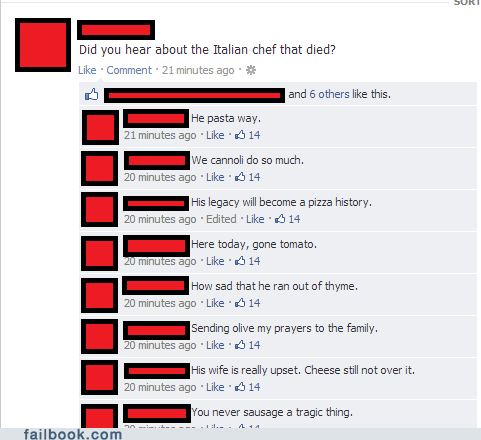 italian hungry italian puns pasta puns puns failbook g rated - 6939390208