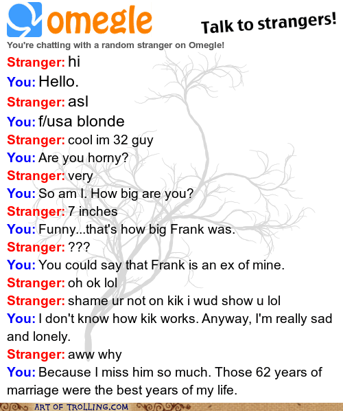 Omegle,ex,widow,chat