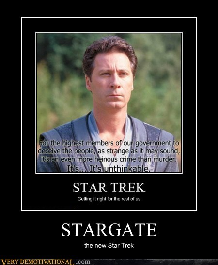 TV Star Trek Stargate quote - 6940337152
