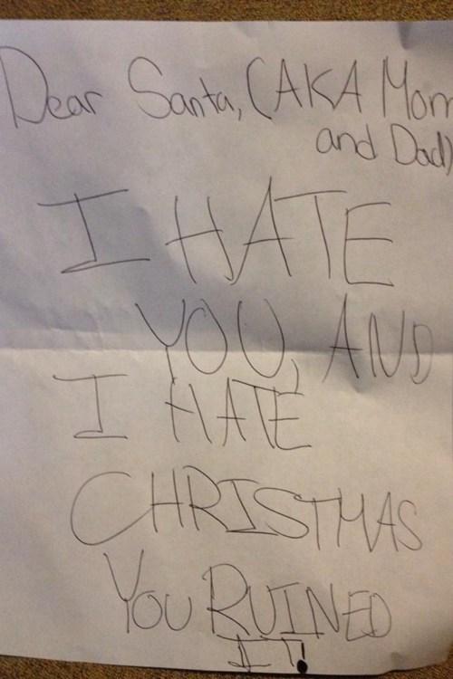 hate children's letters santa g rated Parenting FAILS - 6940421632
