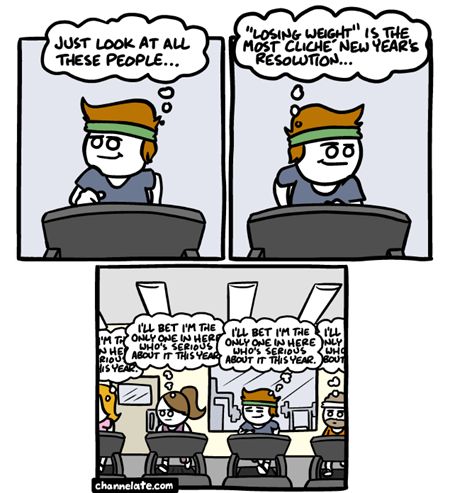resolutions gym new years exercise cliché comic - 6940450304