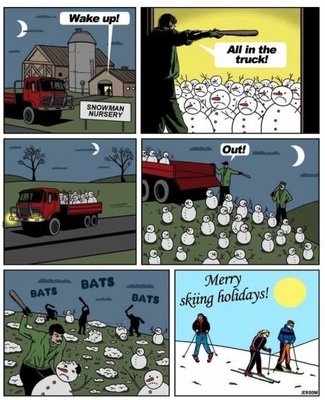 comic,funny,holidays,snowman