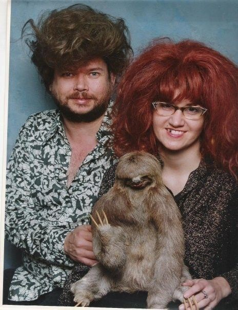 wig,family portrait,sloth