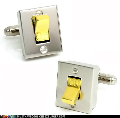 metal light switches fashion man cufflinks - 6940594688