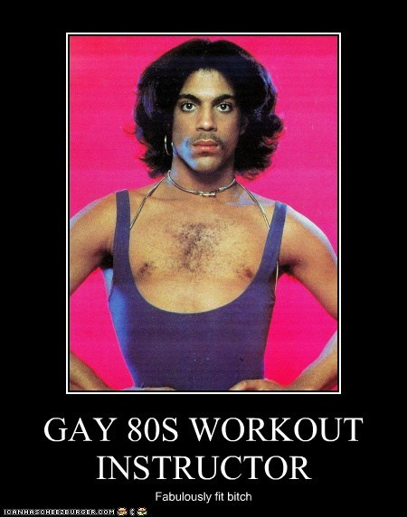 GAY 80S WORKOUT INSTRUCTOR Fabulously fit bitch