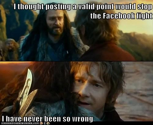 arguments,Sudden Change of Heart Thorin,facebook