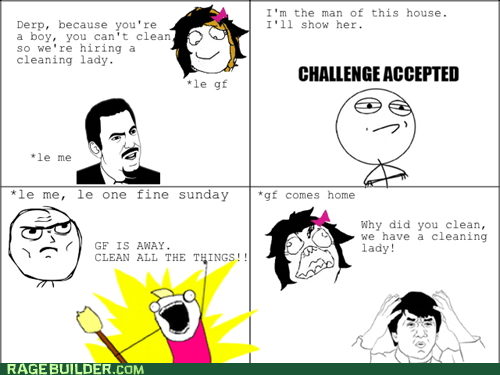 cleaning,cleaning lady,Challenge Accepted,all the things,cleaning rage,Jackie Chan