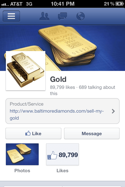 false expectations gold literalism facebook misleading
